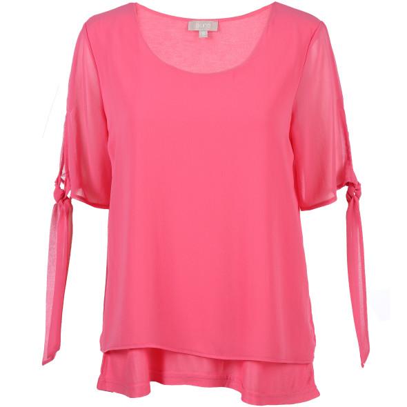Damen Blusen Shirt mit Chiffon
