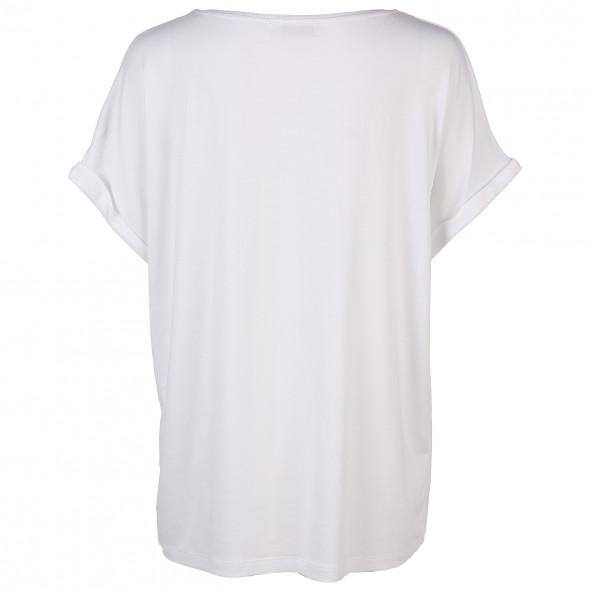 Damen Shirt mit doppellagiger Front