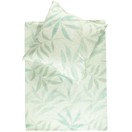 Satinbettwäsche mit zartem Blättermotiv 135x200cm