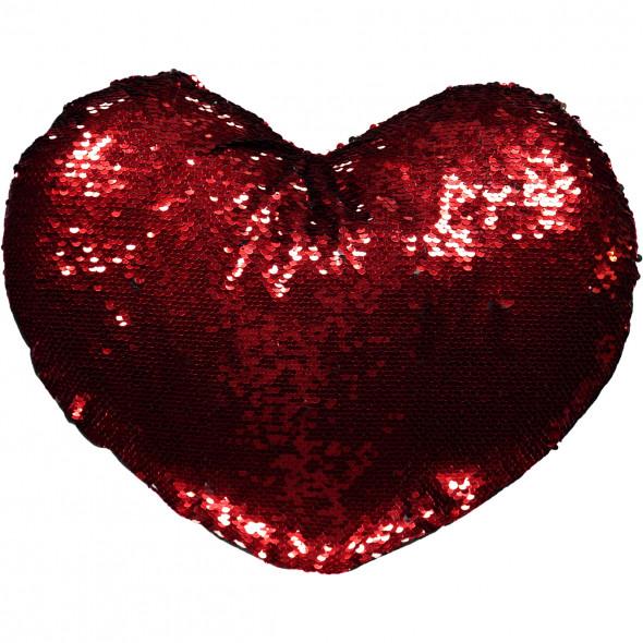 Herzkissen mit Pailletten