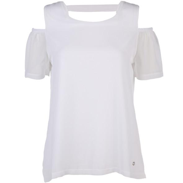 Damen Chiffon-Bluse mit offener Schulter