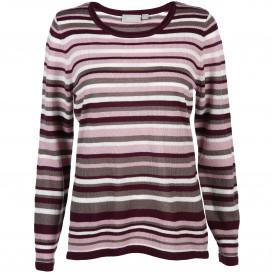 Damen Cashmere-Like Pullover geringelt