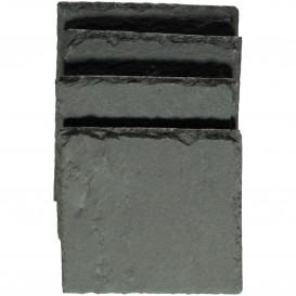 Schieferplatten Untersetzer im 4-er Pack 10x10cm