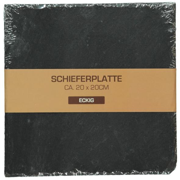 Schieferplatte 20x20cm