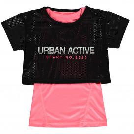 Mädchen Sport Shirt 2 in 1