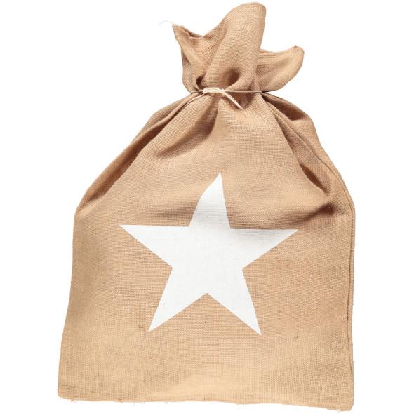 """Weihnachtssack """" Star M"""" 52x72cm"""