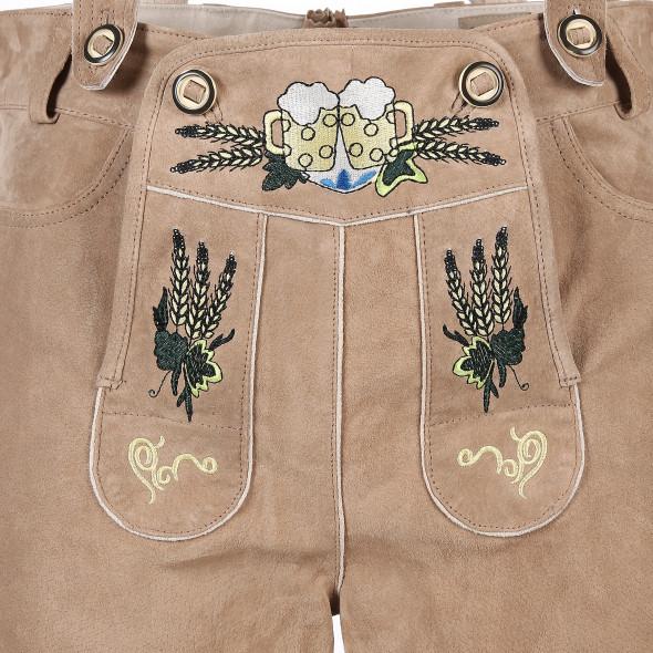 Herren Trachtenlederhose mit traditioneller Stickerei