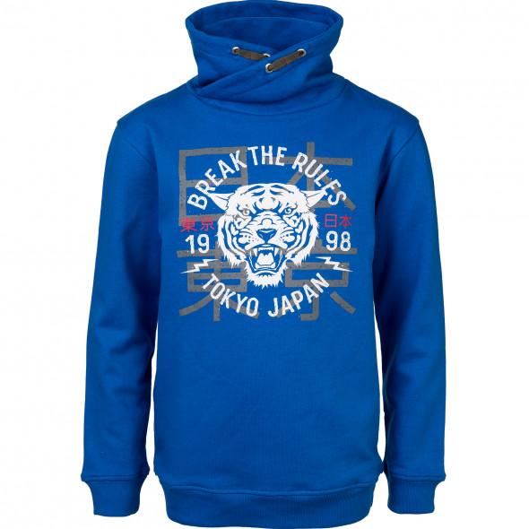 Jungen Sweatshirt mit Turtleneck und Print