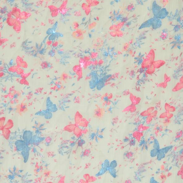 Damen Loopschal mit Schmetterling Print