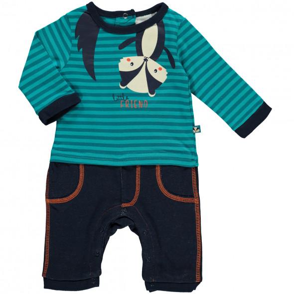 Baby Jungen Strampler mit angesetzter Hose
