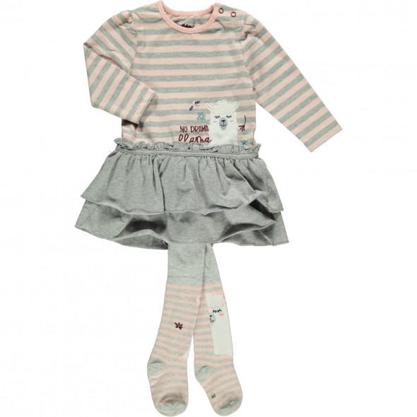 Baby Mädchen Kleid mit Strumpfhose