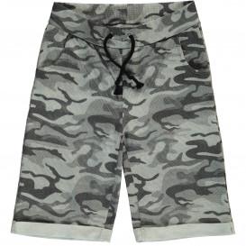 Jungen Sweatbermuda mit Camouflage Muster