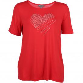 Große Größen T-Shirt mit Herzapplikation