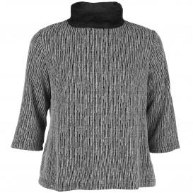 Große Größen Sweatshirt mit kleinem Stehkragen