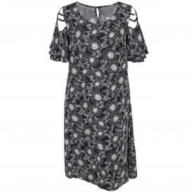 Große Größen Kleid mit Blumen Print