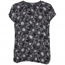 Große Größen Shirt mit Blumenprint