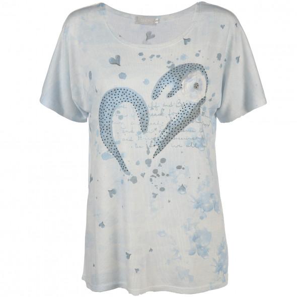 Damen T-Shirt mit Alloverdruck
