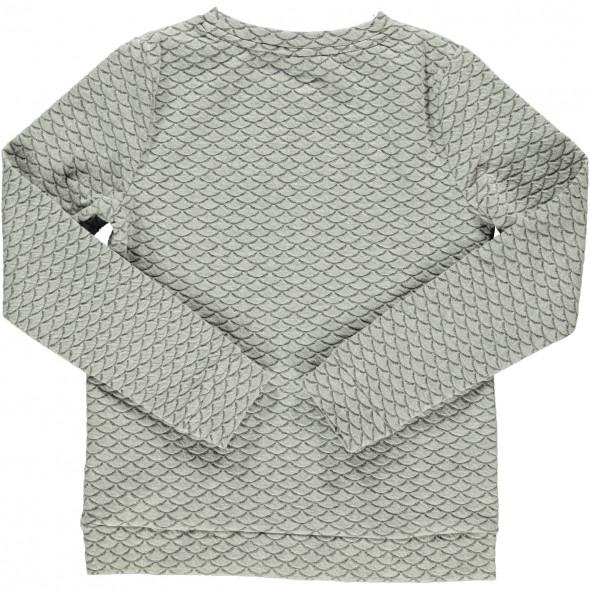 Mädchen Sweatshirt mit Struktur und Frontprint