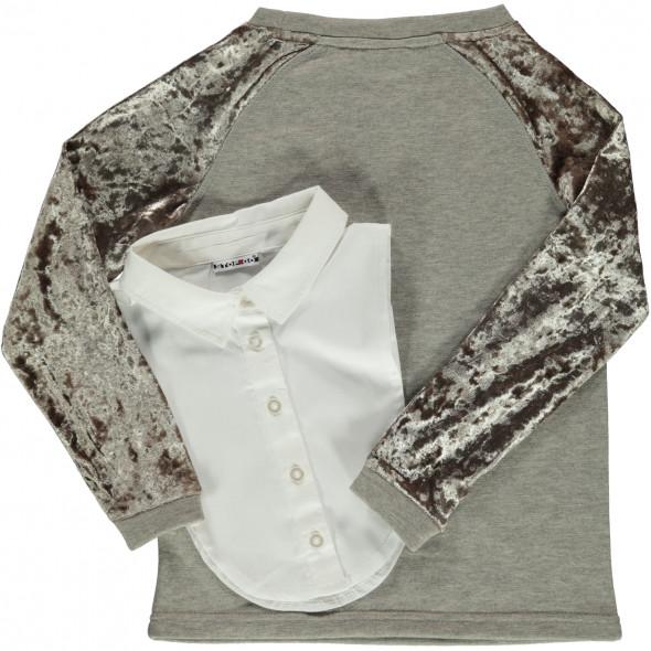 Mädchen Sweatshirt im 2in1 Look
