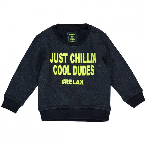 Jungen Sweatshirt mit Neonprint