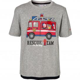 Jungen Shirt mit Frontprint und Appliaktion