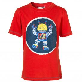 Jungen T-Shirt mit Paillettenroboter