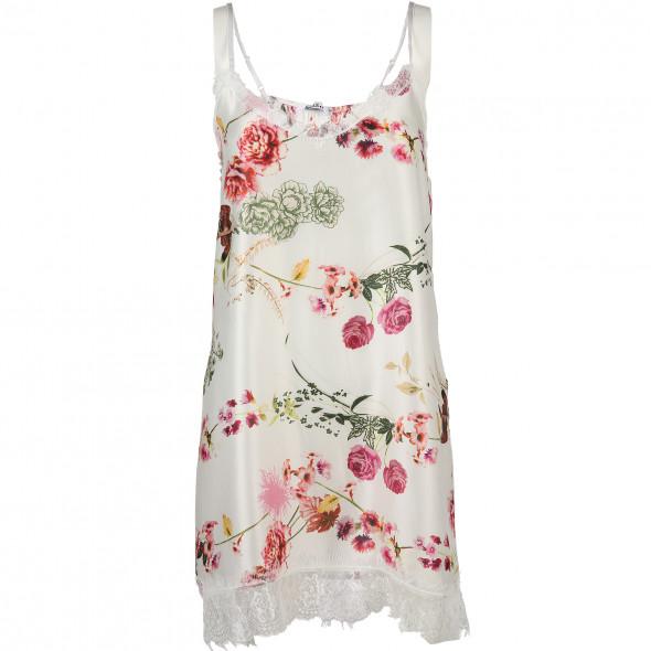 4b840ac1e613b1 Damen Nachthemd mit Spitzenbesatz (Weiß) | AWG Mode