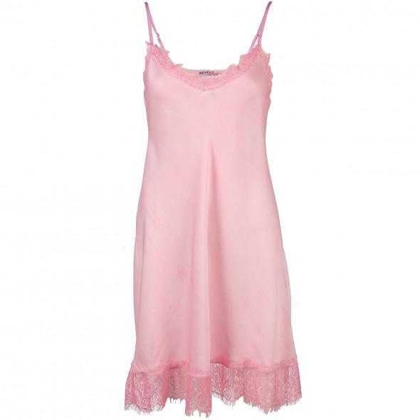 76da70691b4609 Damen Nachthemd mit Spitzenbesatz (Rosa) | AWG Mode