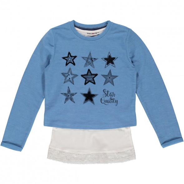Mädchen Sweatshirt 2tlg mit Pailletten