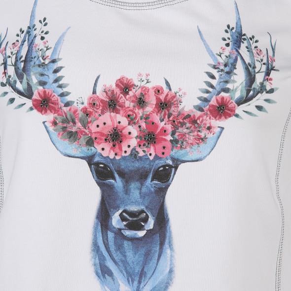 Damen Trachtenshirt mit Print und Strass