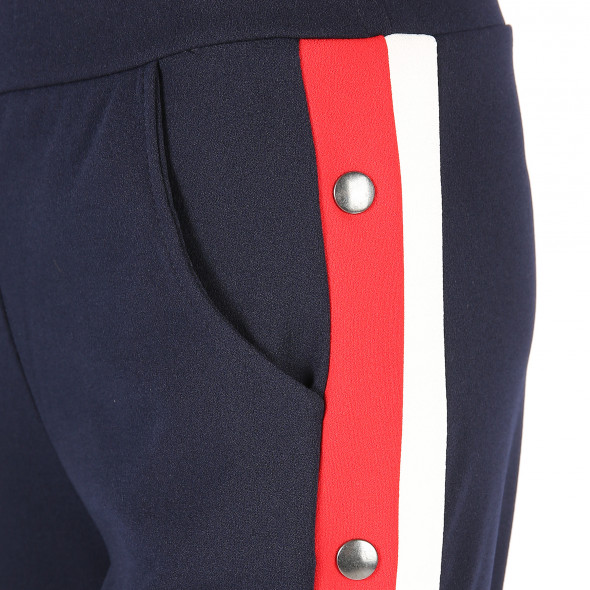 Damen Hose mit Galonstreifen und Druckknöpfen