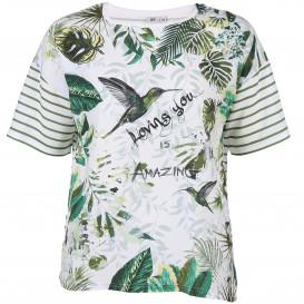 Große Größen Bluse mit effektvollem Print