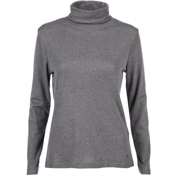 Damen Basic Rollkragen-Shirt