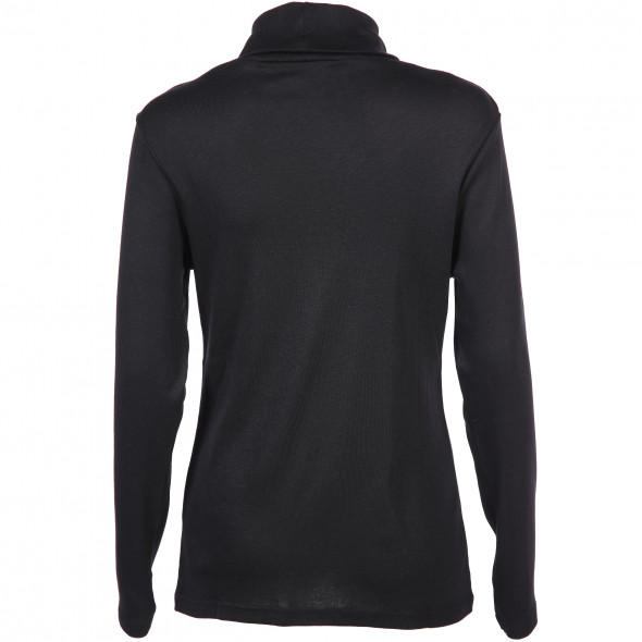 Damen Basic Rollkragen-Shirt