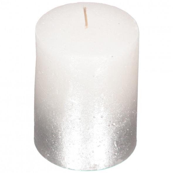 Kerze mit Glitter 7x9cm