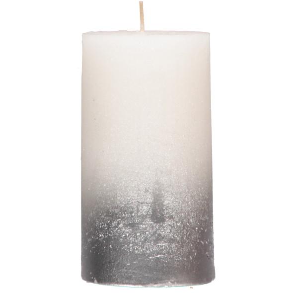 Kerze mit Glitter 7x13cm