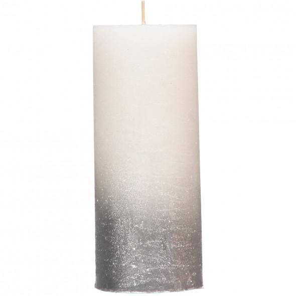 Kerze mit Glitter 7x17cm