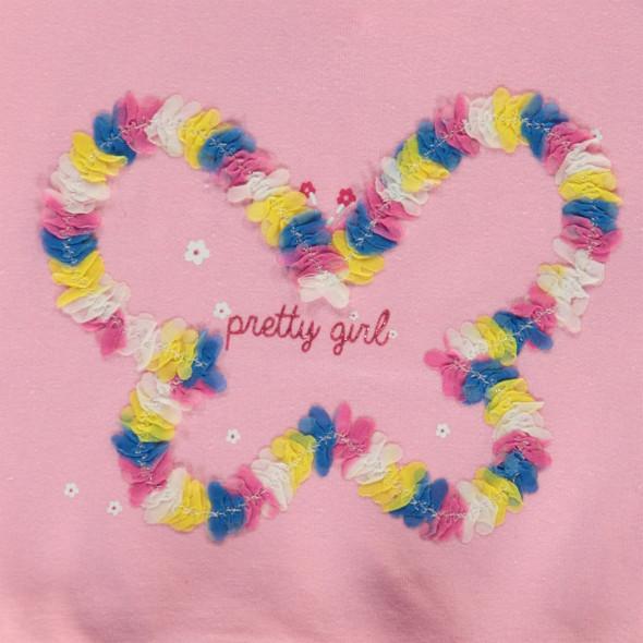 Baby Mädchen Shirt mit Rüschensaum