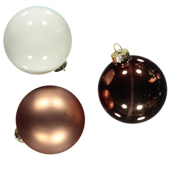 Weihnachtskugeln im 6er Pack  D:6,5cm