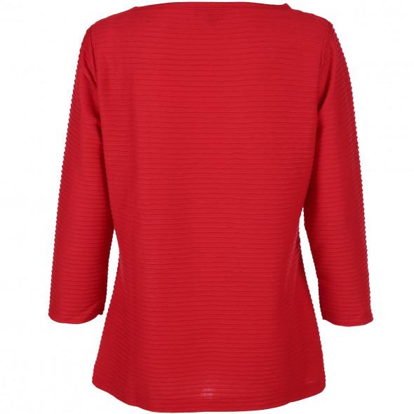Damen Shirt mit Struktur Streifen