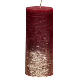 Kerze mit Glitter 7x17 cm
