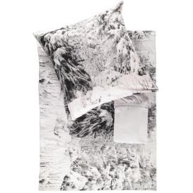 Flanell Bettwäsche 3tlg.mit Spannbettuch 135x200cm