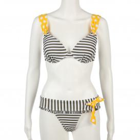 Damen Bikini im Streifen- und Tupfenlook