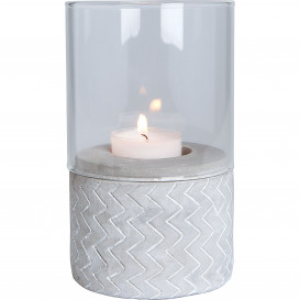Kerzenhalter mit Glas 15x9cm