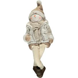 Magnesia Schneemann mit hängenden Beinen