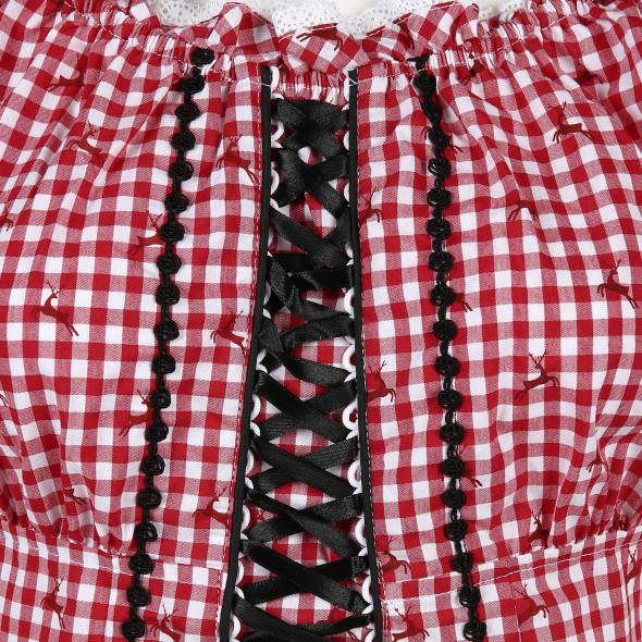 Damen Trachtenbluse mit Schnürung