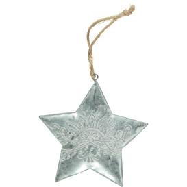 Weihnachts Stern aus Metall 10cm
