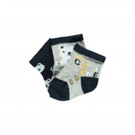 Babysocken mit Bärenmotiv im 3er Pack
