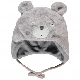 Baby Mütze mit Bärgesicht mit Öhrchen