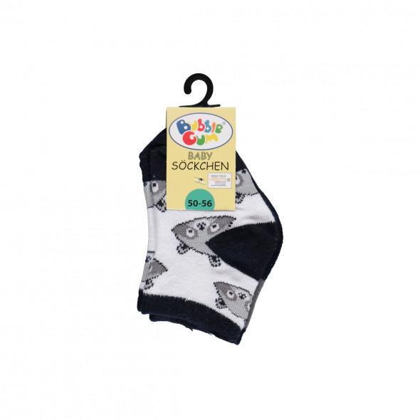 Babysocken mit Waschbärenmotiv im 3er Pack